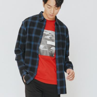 H:CONNECT 韓國品牌 男裝-圖像標語風格T-shirt-紅(快)