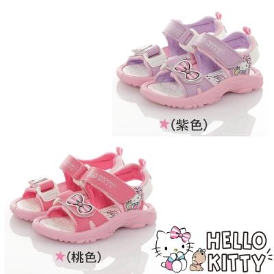 Hello Kitty童鞋 可愛輕量減壓休閒涼鞋-紫.桃