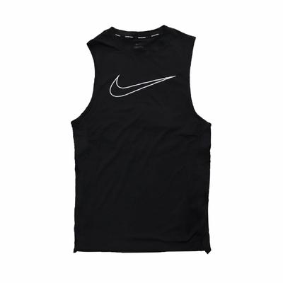 Nike 背心 Sleeveless Top 運動休閒 男款 Dri-FIT 無袖 Tight-Fit 黑 白 DD1989-010