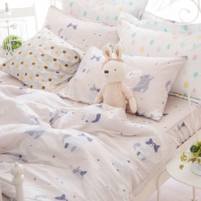 OLIVIA  PUSSY 加大雙人床包冬夏兩用被套四件組 230織天絲TM萊賽爾 台灣製