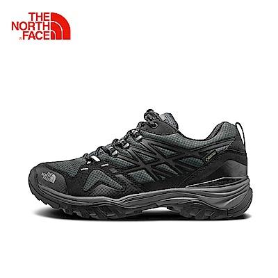 The North Face北面男款黑色防水透氣徒步鞋