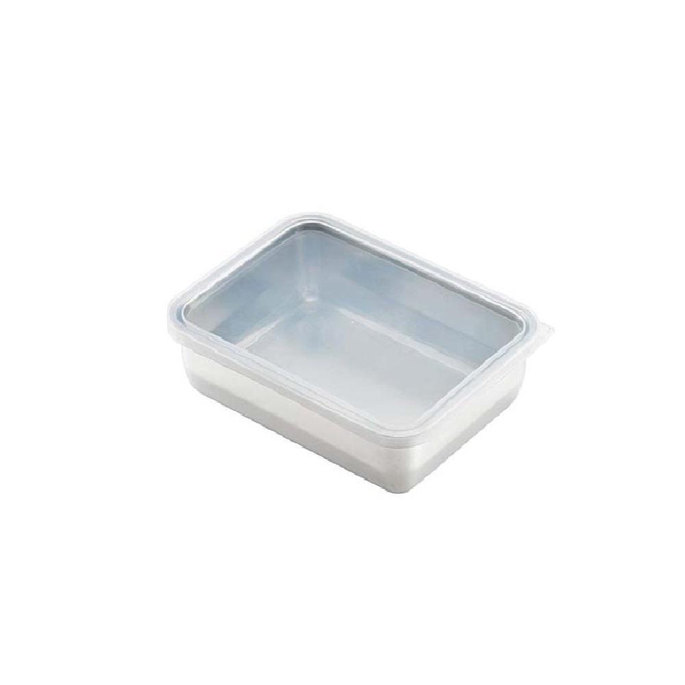 日本 吉川Yoshikawa透明蓋不鏽鋼保鮮盒 中/1730ml