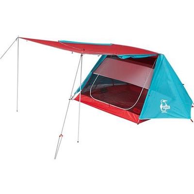 Chums 休閒戶外 A-Frame Tent 3 帳篷 藍綠紅-CH621441T010