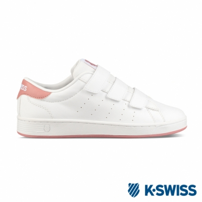 K-SWISS Clean Court 3-Strap S CMF鞋-白/玫瑰