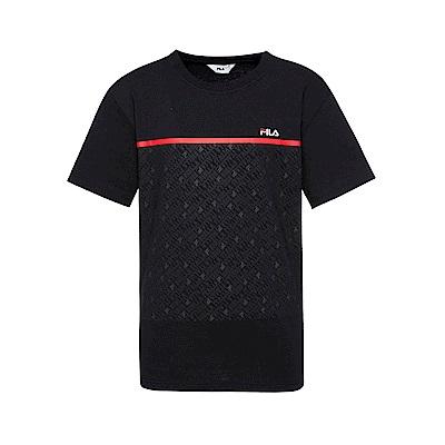 FILA 男款短袖圓領T恤-黑色 1TET-1511-BK