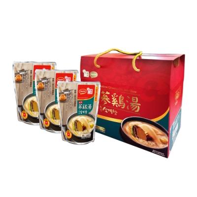 韓味不二【韓國原裝】鮑魚人蔘雞湯禮盒(1kg*3入)