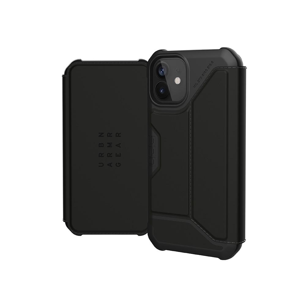 UAG iPhone 12 mini 翻蓋式耐衝擊保護殼-極簡黑