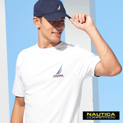 Nautica COMPETITION男裝簡約LOGO圖騰短袖T恤-白