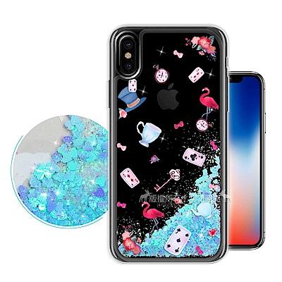 EVO iPhone X 流沙彩繪保護手機殼(愛麗絲)