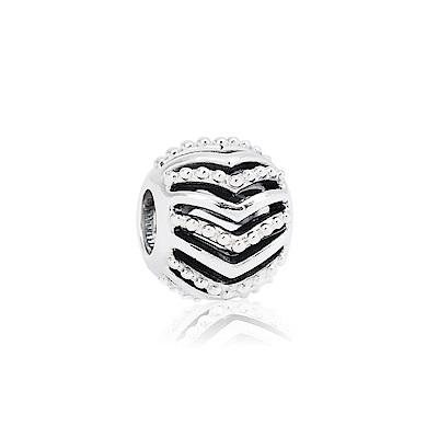 Pandora 潘朵拉 圓形許願骨鏤空純銀墜飾 串珠