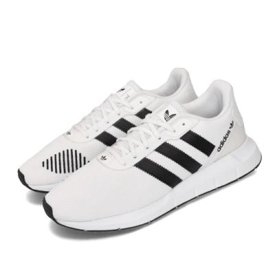 adidas 休閒鞋 Swift Run RF 男女鞋 愛迪達 三葉草 緩震 透氣 球鞋穿搭 白 黑 FV5358
