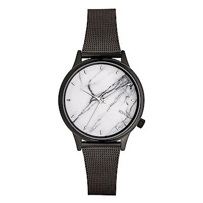 KOMONO Estelle Marble 手錶-性格黑x皓月白/36mm