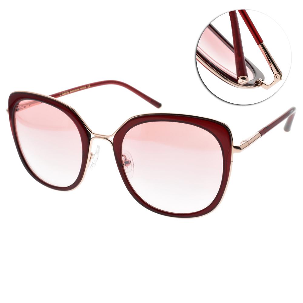 CARIN太陽眼鏡 秀智代言 韓系修飾造型款/紅金 #LINDA C3