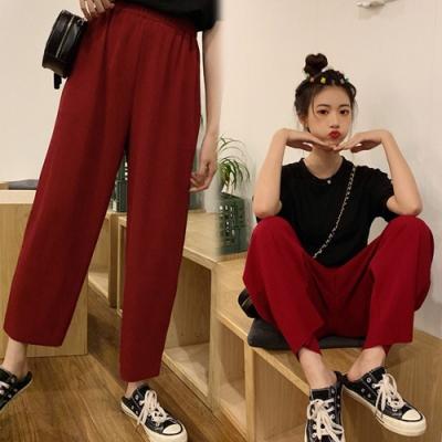 【韓國K.W.】(預購)明星款可愛時尚休閒褲-2色