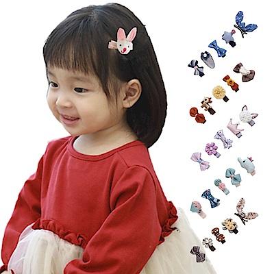 JoyNa兒童髮夾 可愛造型5件組寶寶髮夾 兒童髮飾-3入