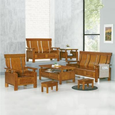 MUNA 5569型柚木色實木組椅(雙人座)  132X76X103cm