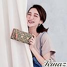 KINAZ 甜蜜驚喜L型拉鍊長夾-法式夢境-甜心磚系列