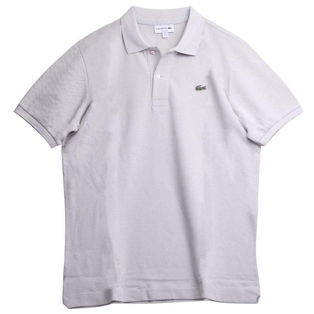 LACOSTE 品牌經典鱷魚LOGO 男POLO衫(淺灰色)