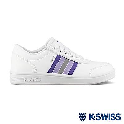 K-SWISS Court Clarkson S SE時尚運動鞋-女-白/紫