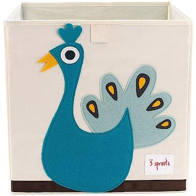 加拿大 3 Sprouts 收納箱 藍孔雀