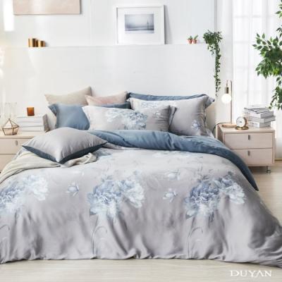 DUYAN竹漾-60支萊塞爾天絲-雙人床包被套四件組-夢迴牡丹 台灣製
