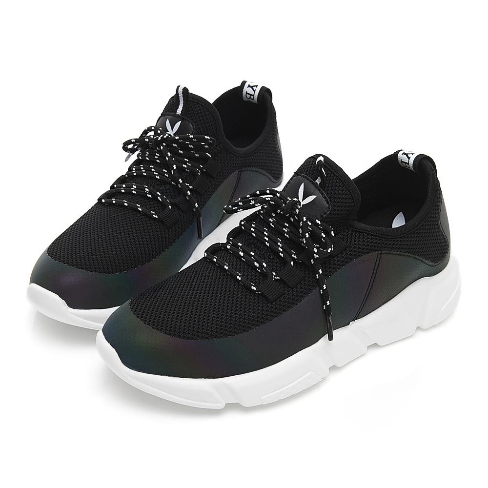 PLAYBOY 炫彩注目襪套式休閒鞋-黑-Y5279CC