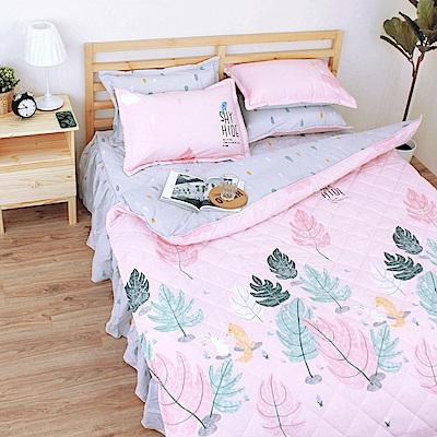 艾莉絲-貝倫 小森林 100%純棉 四件式雙人AB版雙面鋪棉床罩組