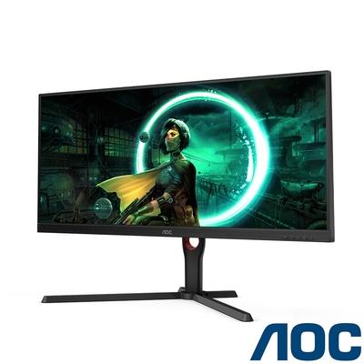 AOC U34G3X 34型 21:9 2K電競螢幕 支援HDR  144Hz刷新 1ms極速