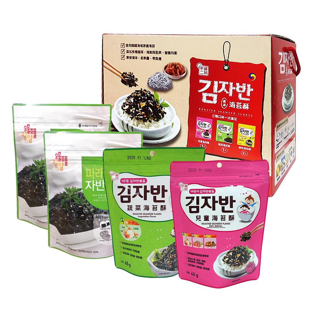 韓味不二 海苔酥禮盒(50g/包,共4包) (原味2包 兒童1包 蔬菜1包)