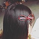Hera 赫拉 百搭皮革蝴蝶結髮夾2入組-3色