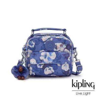 Kipling 氣質渲染印花拉鍊兩用側背後背包-PUCK