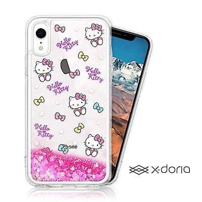 Hello Kitty iPhone XR 亮片流沙手機軟殼 - 繽紛