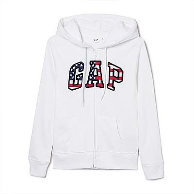 GAP 女生 連帽外套 白1060