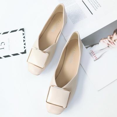 KEITH-WILL時尚鞋館 柔美愛戀淺口平底鞋 米白