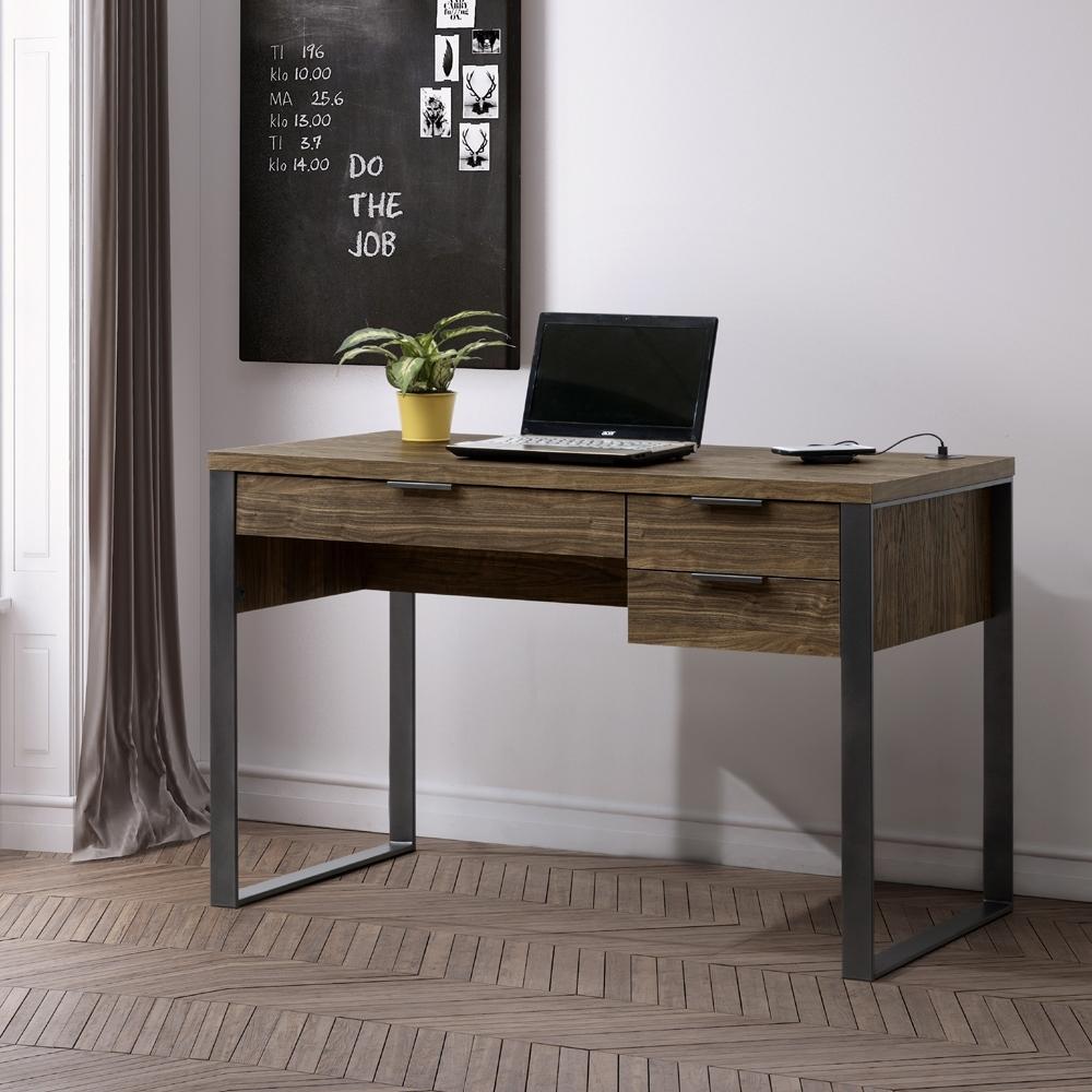 美傢ALBBRT 四尺書桌附USB/DIY組合產品/寬120*深60*高76.2公分