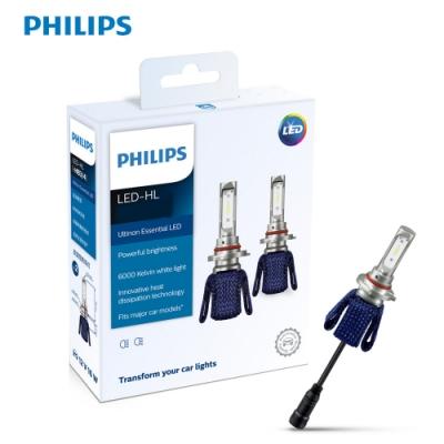 PHILIPS光劍LED頭燈 Essential Ultinon H4 頭燈兩入裝-公司貨