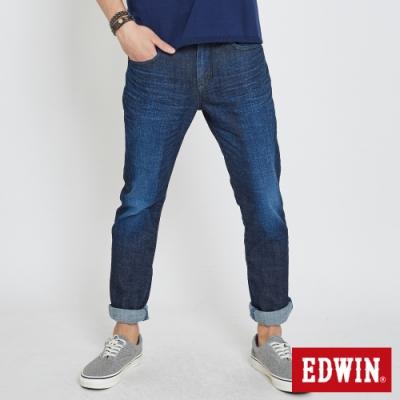 EDWIN EDGE LINE 漸層袋花 窄直筒牛仔褲-男-原藍色