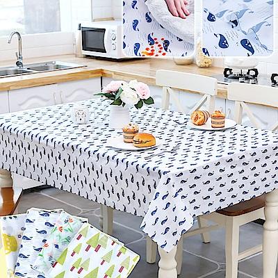 (贈童話擺飾) EZlife PEVA防水防油餐桌布2入組