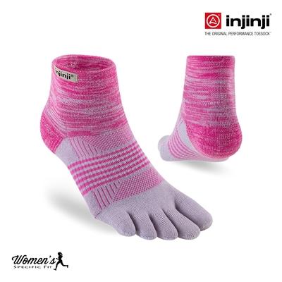 【injinji】女 Trail野跑避震吸排五趾短襪(桃紅) - WAA38 | 厚底防震 運動員推薦 吸濕排汗 五趾襪