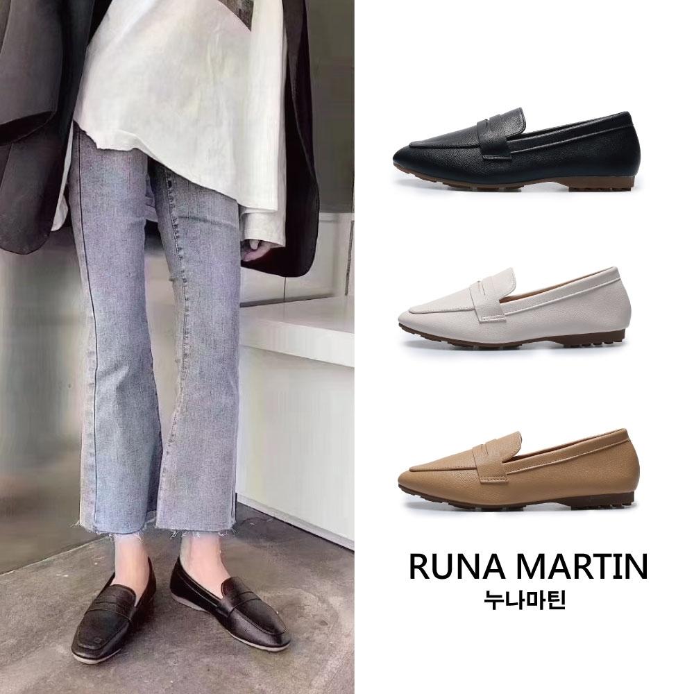RUNA-正韓來台-花邊挖空淑女鞋-黑/象牙白/卡其