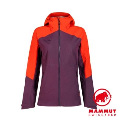 【Mammut 長毛象】Convey Tour HS Hooded Jacket GTX防風防水連帽外套 黑莓紫/辛辣紅 女款 #1010-27850