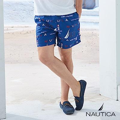 Nautica 航海圖騰造型綁帶海灘褲