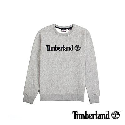Timberland 男款中灰色麻灰長T運動衫