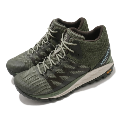 Merrell 戶外鞋 Antora 2 Waterproof 女鞋 登山 越野 中筒 耐磨 黃金大底 防水 綠 黑 ML035646