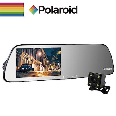 【Polaroid】寶麗萊 DS502GS星光夜視後照鏡行車紀錄器+後鏡頭720P雙鏡頭組