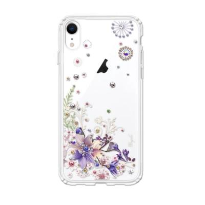 apbs iPhone XR 6.1吋施華彩鑽防震雙料手機殼-祕密花園