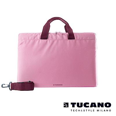 TUCANO MINILUX 極簡輕便尼龍手提內袋 13-14吋(可側背)-粉紅