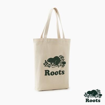 Roots配件-有機棉帆布袋-灰白色