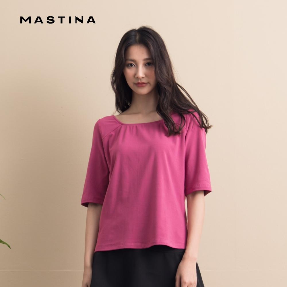 【MASTINA】休閒背部綁帶造型短版-上衣(三色)