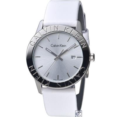 Calvin Klein cK Steady 優雅時尚腕錶(K7Q211L6)白/38mm